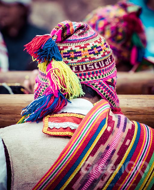 Peru Tours - Indigenous man with colorful clothing