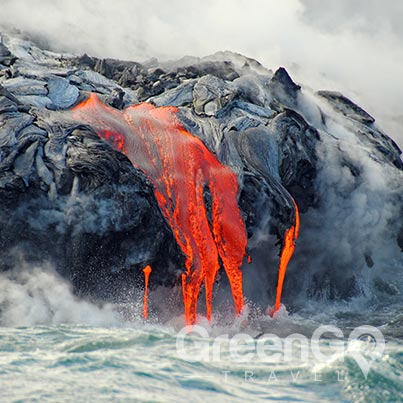 Volcanoes-in-the-Galapagos-lava-flow-steam