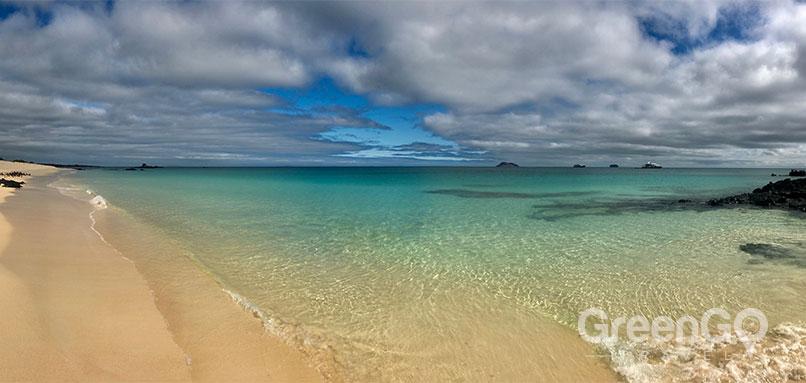 Bachas Beach in the Galapagos