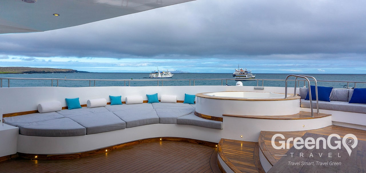 Infinity Galapagos Cruise Itineraries- Jacuzzi Area