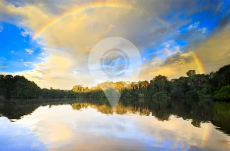 Weather-in-the-Amazon-Rainforest-Bright-Blue-over-river-with-rainbow