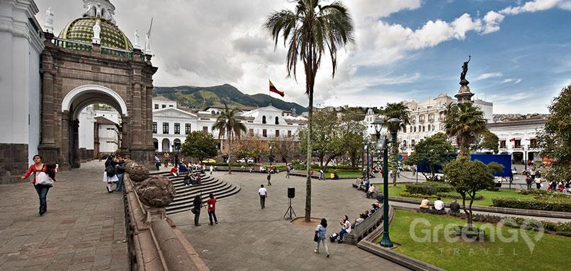 Getting Around Quito - A beautiful square in Quito