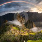 Inca-trail-guide-in-2020-Rainbow over machu picchu